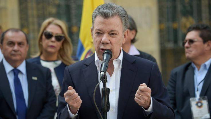 [Photo: Colombia's President Juan Manuel Santos.Source:  Raul Arboleda/ BBC ]