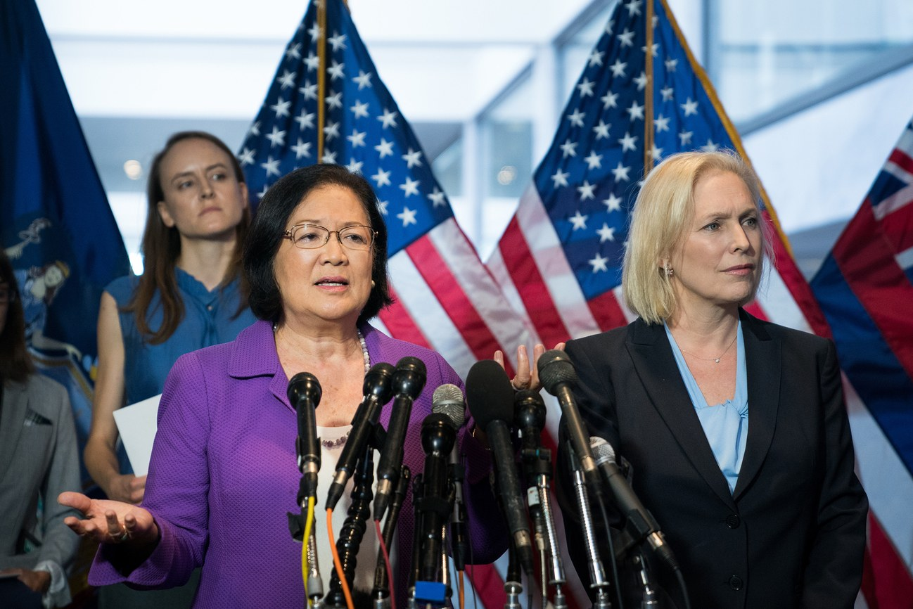 Senator Mazie Hirono and Senator Kirsten Gillibrand. Photo:  Erin Schaff / New Yorker / Redux