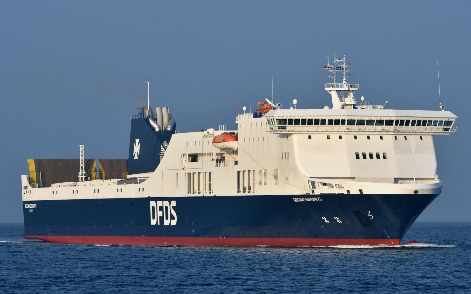 A DFDS Ferry was left stranded in the Baltic Sea early this week. Credit:    MARTIN WITTE/ALAMY