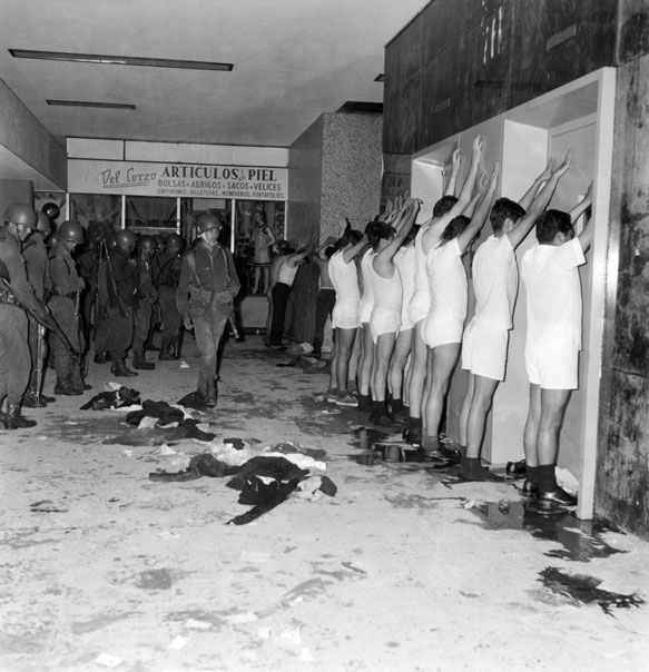 Mexican students detained on Oct. 2 1968, during the Tlatelolco massacre  Source:  Manuel Gutiérrez Paredes
