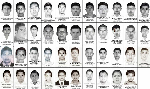 The 43 missing school boys  Source:  The Guardian