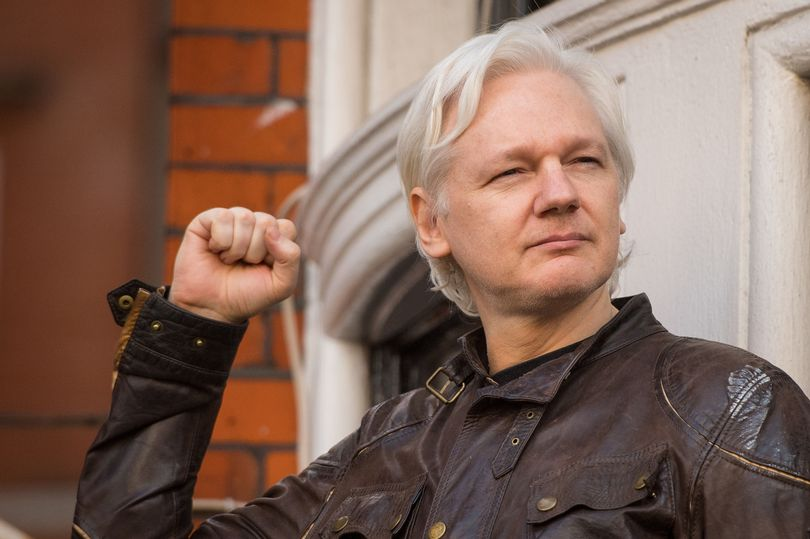 Julian Assange in the Ecuadorian Embassy  Photo: Mirror