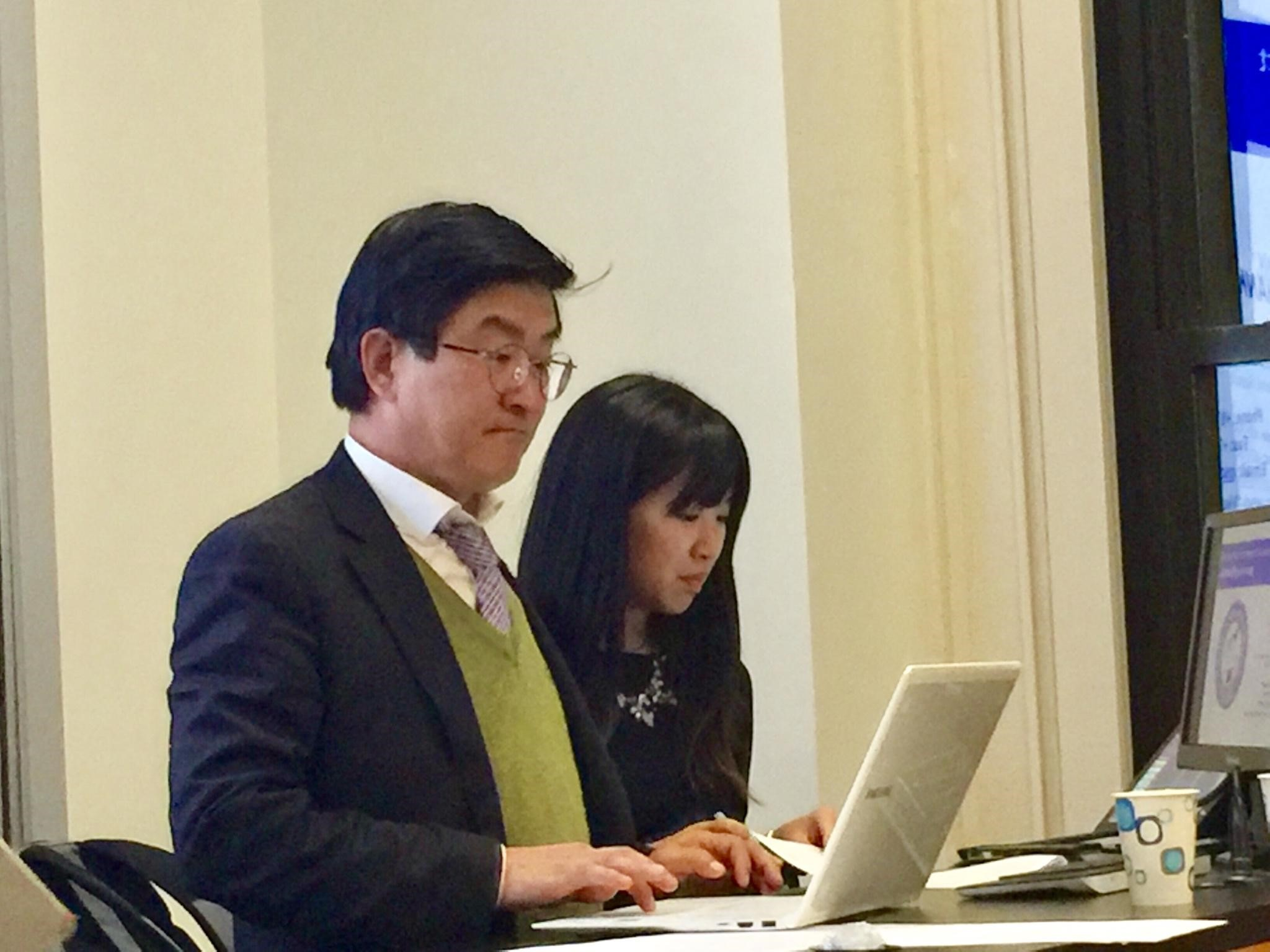 Ro Hee-Chang (left) and Grace Moon, President of NYU Freedom For North Korea (right).
