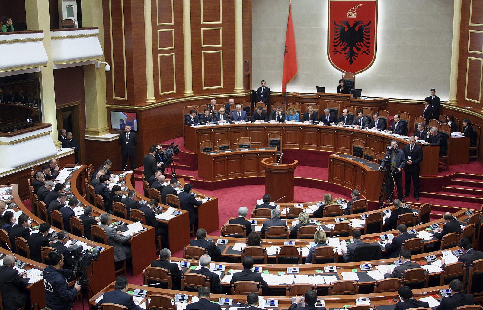 The Kuvendi i Shqipërisë, the unicameral parliament of the Republic of Albania. Credit:  Kuvendi