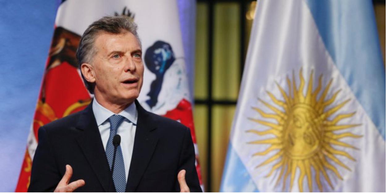 President Mauricio Macri  Photo:  Standard Media