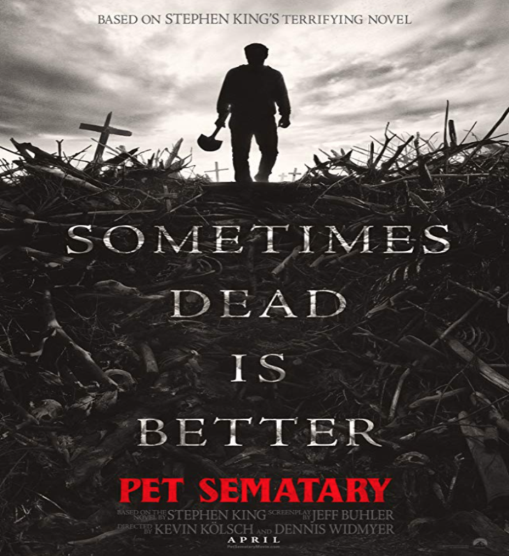 Poster for the upcoming  Pet Sematary  remake. Photo:  IMBd
