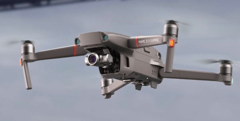 A photo of the Mavic 2 Enterprise in flight. Credit:   DJI | DJI Website