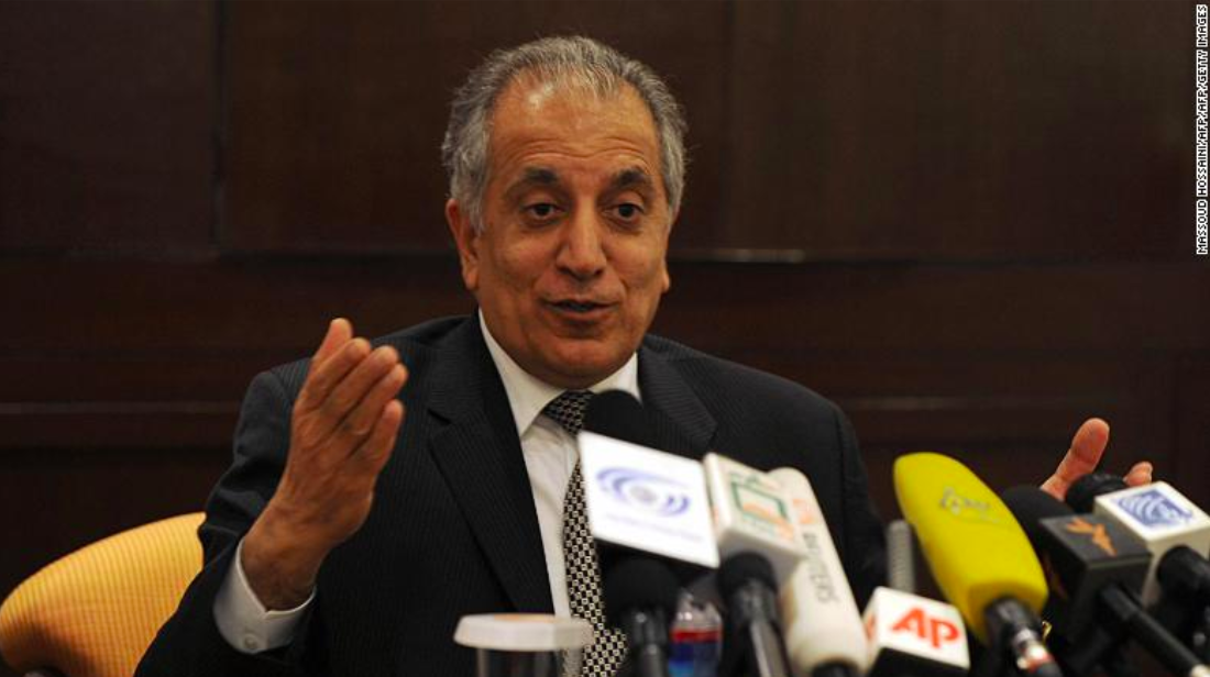 Pictured is Zalmay Khalizad, a special U.S. envoy to Afghanistan;  Photo: CNN