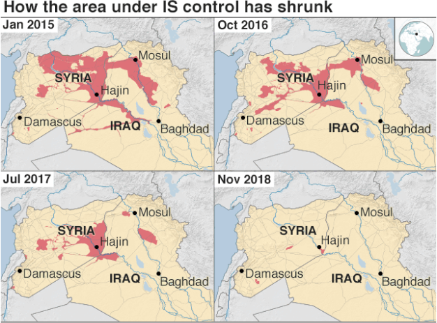 Source: Conflict Monitor by IHS Market,  BBC , Nov 6, 2018.