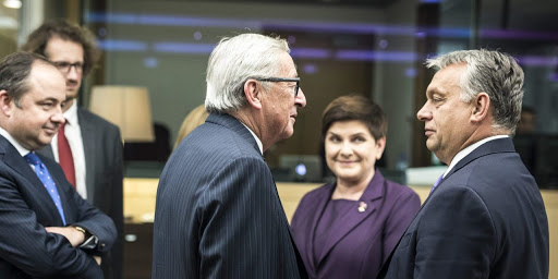 George Soros and Prime Minister Viktor Orban. Photo.    Credit: Daily News Hungary