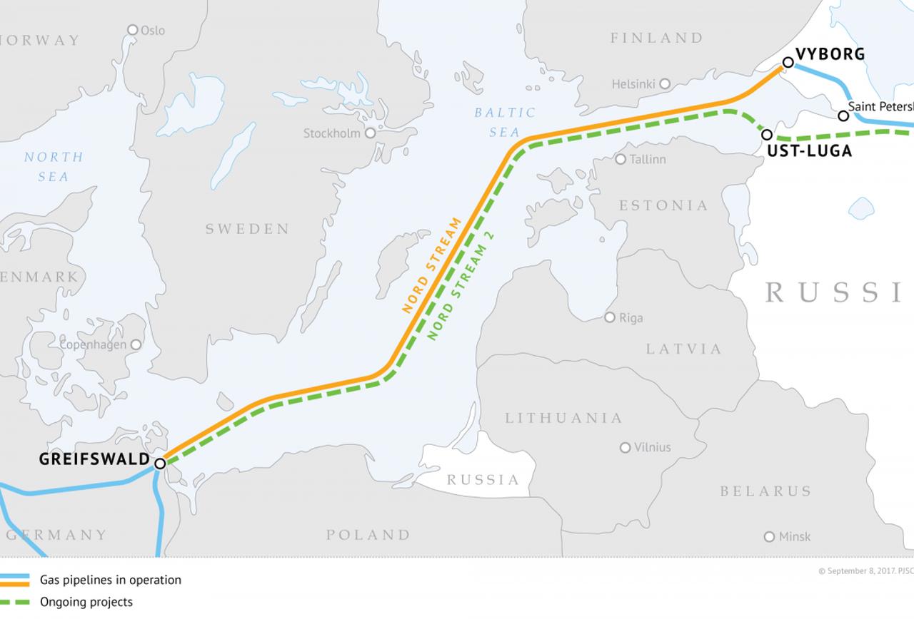 Nord Stream 2 Route;    Source: Gazprom