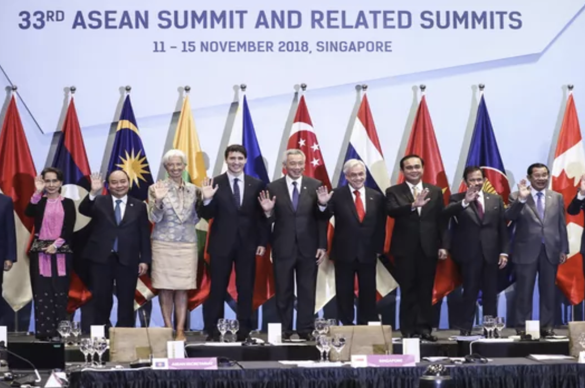 Leaders at the Summit at Singapore (Picture Credit:  Yong Teck Lim/AP