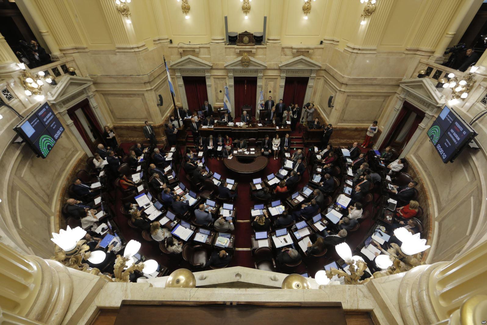 Senators in Argentina debate new 2019 budget proposals in Buenos Aires on Nov. 14.  Photo:    AP/VOA News   .