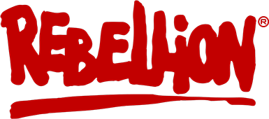 Rebellion Productions logo. Photo:  Rebellion