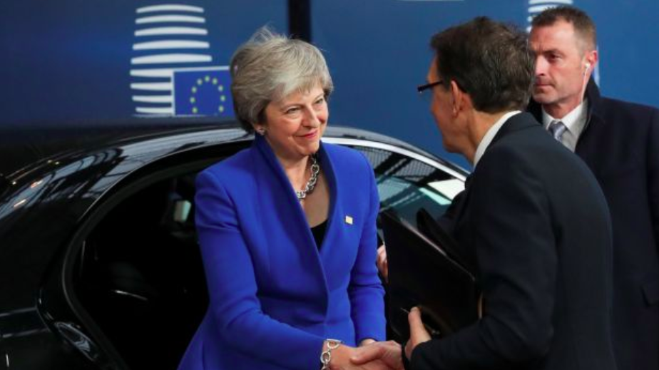 British Prime Minister Theresa May arrives at the Brussels summit November 25. Photo: Yves Herman/ Reuters