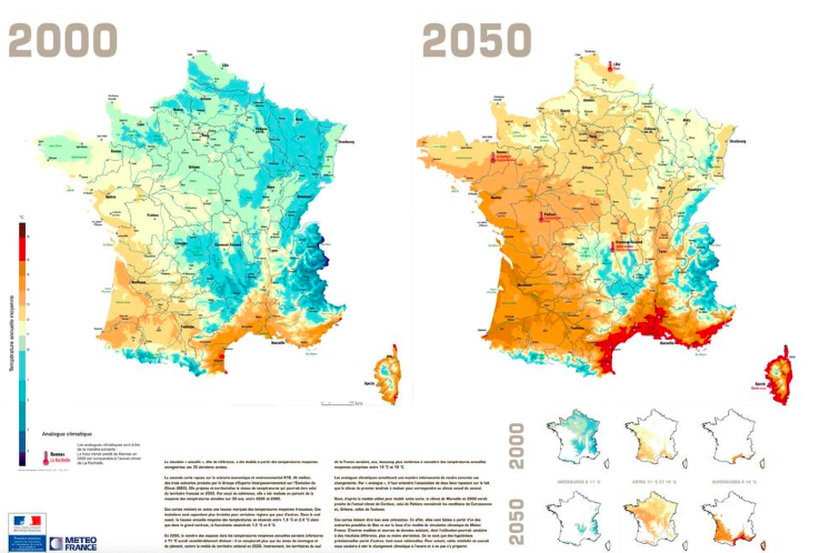 A study conducted by the Commissariat général à l'égalité des territoires (CGET) proves that the above temperatures could become a reality if France continues with its dependence on non-renewable energy. Photo:  progrss .