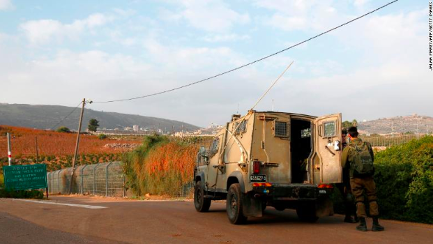 Israeli soldiers near the border with Lebanon on Tuesday. December 4, 2018. Photo:  CNN.