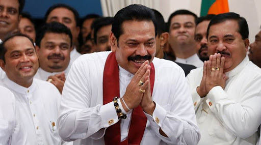 Prime Minister Rajapaksa; Photo:  The Wire