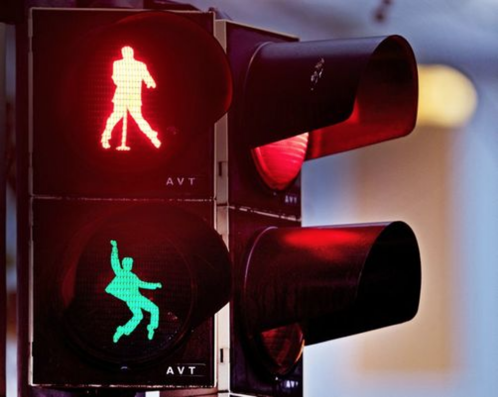 New Elvis Presley traffic lights in Friedberg, Germany. Photo:  commercial appeal