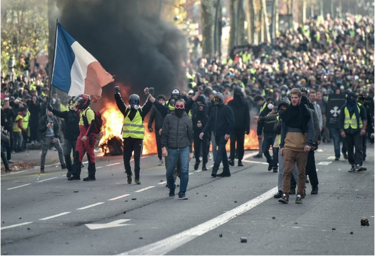 Yellow Vest Protests. Credit:  The Local