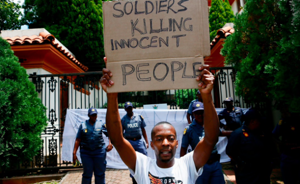"""Rights groups like Zimbabwe's Independent Human Rights Commission are fighting to expose the """"systematic torture"""" being carried out by Zimbabwean security forces against its own citizens. Photo: Phill Magakoe /  The Telegraph"""