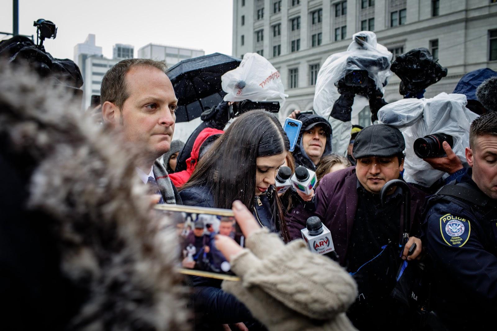 Emma Coronel Aispuro, the wife of Joaquín Guzmán Loera, known as El Chapo, after the verdict was announced on Tuesday. Photo:  Stephen Speranza/New York Times