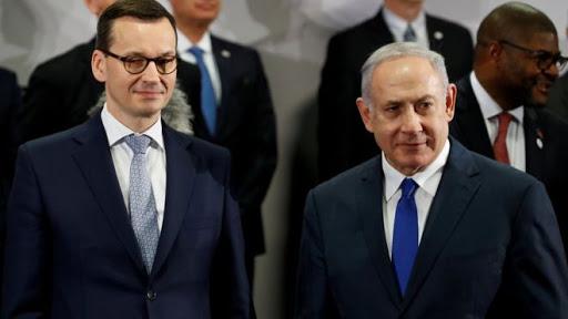 Polish PM Morawiecki with Israeli PM Netanyahu. Photo.    Source: Reuters