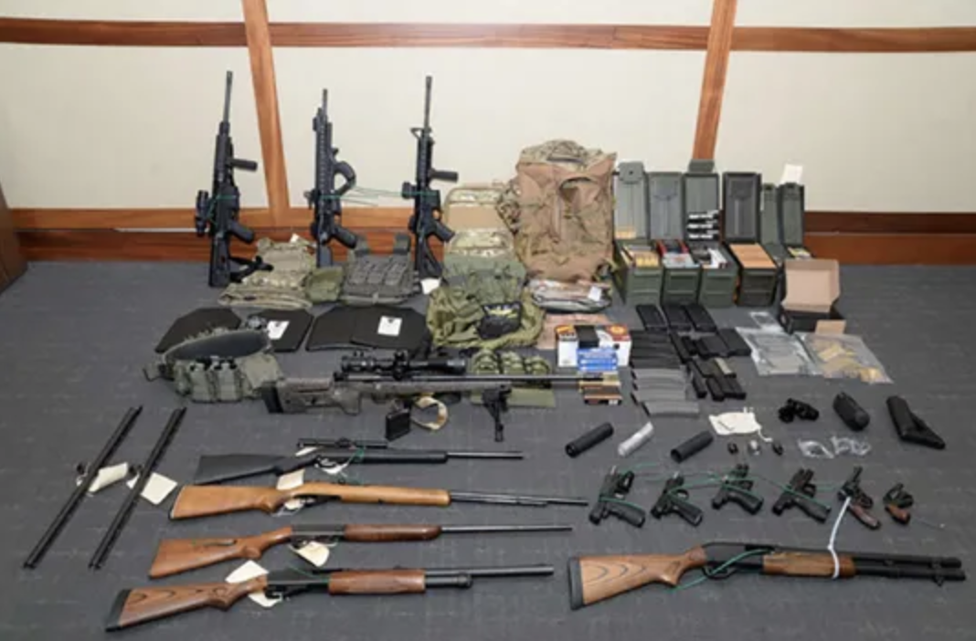 Federal Authorities recovered several rifles and rounds of ammunition in Hasson's apartment. Photo:  AFP /U.S. Attorney's Office for the District of Maryland