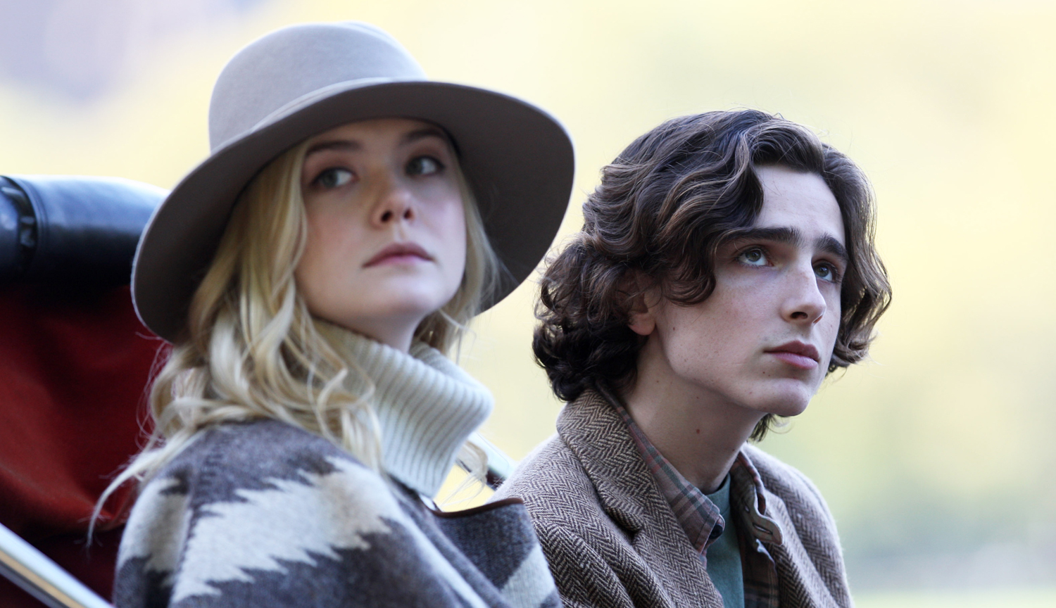 Elle Fanning and Timothée Chalamet in  A Rainy Day in New York.  Photo:  IMDb