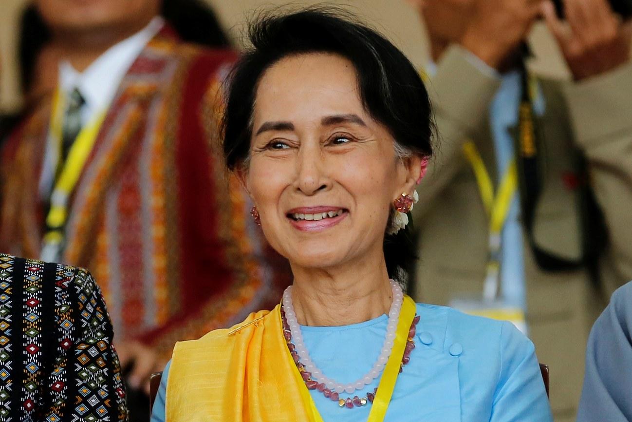 Myanmar's State Counsellor and Nobel Peace Prize winner Aung San Suu Kyi. Photo: Soe Zeya Tun /  The New Yorker
