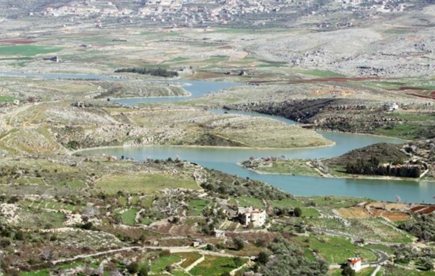 The Litani River, now severely polluted, from the Western Bekaa village of Saghbin in Lebanon 2013.  Photo : Hasan Shaaban/The Daily Star