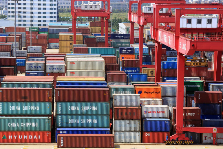 Chinese Goods in an American Port  Photo:  Shutterstock