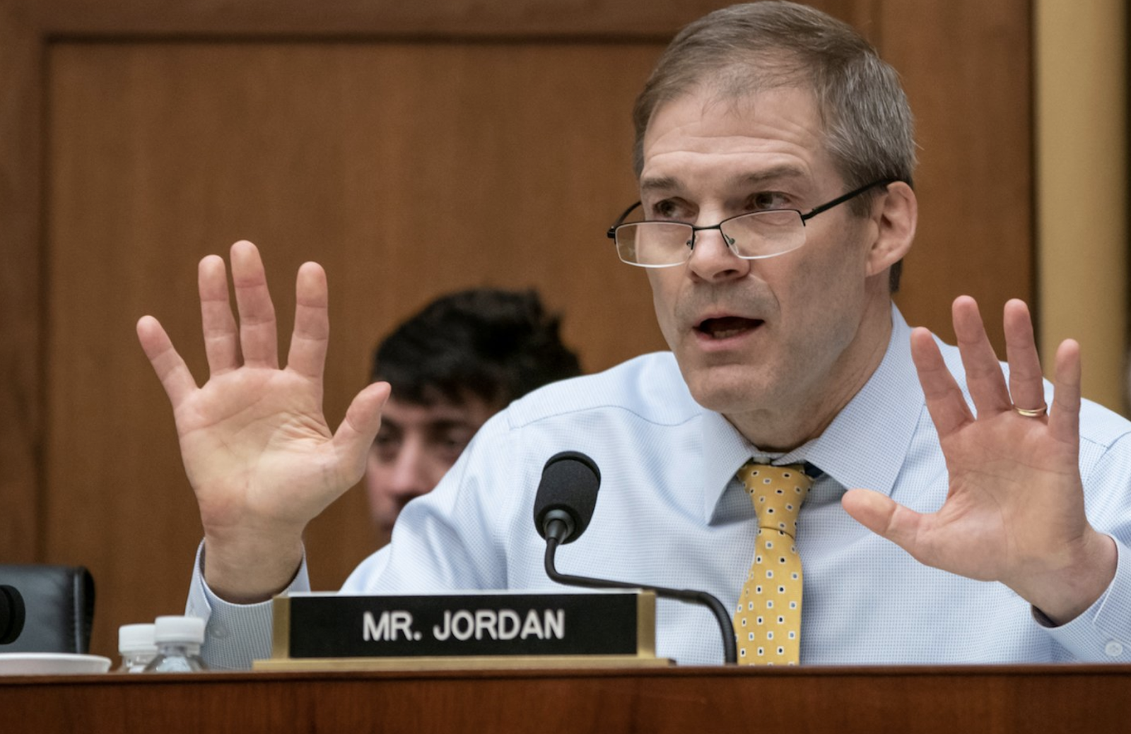 Rep. Jim Jordan (R-OH) engaged in a heated exchange with Cohen on his credibility. Photo: Scott J. Applewhite/ AP