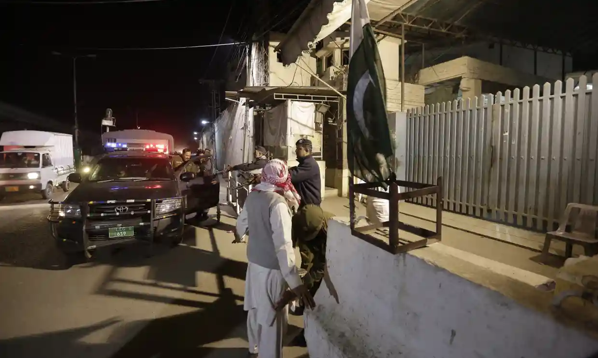 Police seize control of the headquarters for militant group Jamaat-ud-Dawa in Lahore, Pakistan.  Photo:  Rahat Dar/The Guardian via EPA