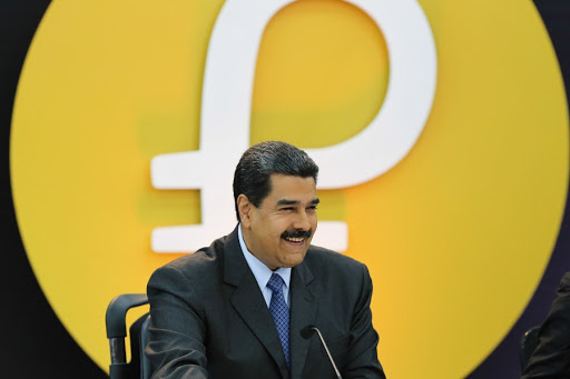 Venezuelan President Nicolas Maduro supporting Venezuelan crypto-currency Petro, financed by Russian Evrofinance Mosnarbank. Photo.    Source: Coinnouce