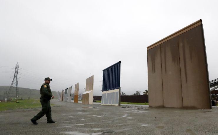 Prototypes of President Trump's Border Wall  Photo:  Gregory Bull/AP Photo