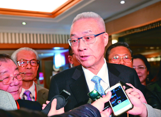 KMT Chairman Wu Den-yih addresses reporters about recruiting Kaohsiung City Mayor Han Kuo-yu for the KMT candidate selection process on March 23, 2019. Photo:  Tseng Ji-song/United Daily News