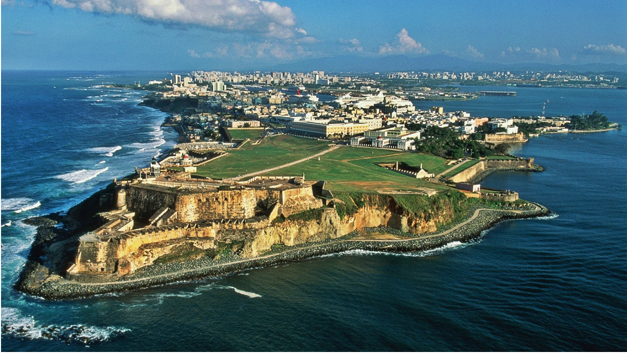An aerial view of Puerto Rico, a U.S. territory. Photo:  Premier Offshore