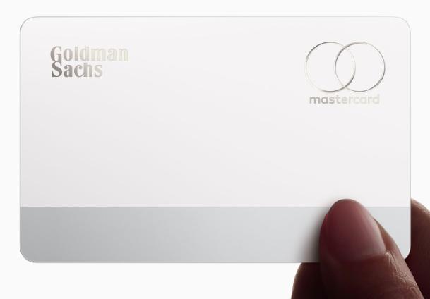 The physical titanium credit card featuring the Goldman Sachs and Mastercard logos. Photo: Julian Hebron /  The Basis Point
