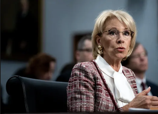 Devos appeared before the House Appropriations Committee on Tuesday. Photo: Erin Schaff/ New York Times