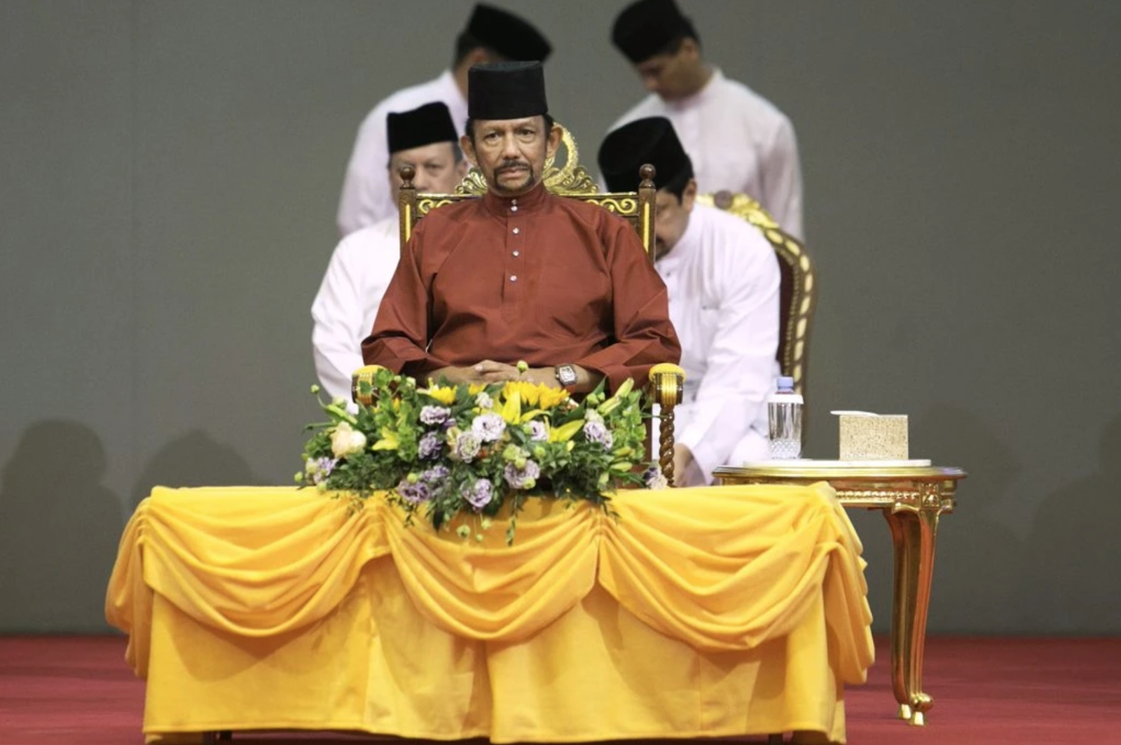 Sultan Hassanal Bolkiah of Brunei in Bandar Seri Begawan, the country's capital, on Wednesday.  Photo:  Iliana Magra/New York Times via Shutterstock