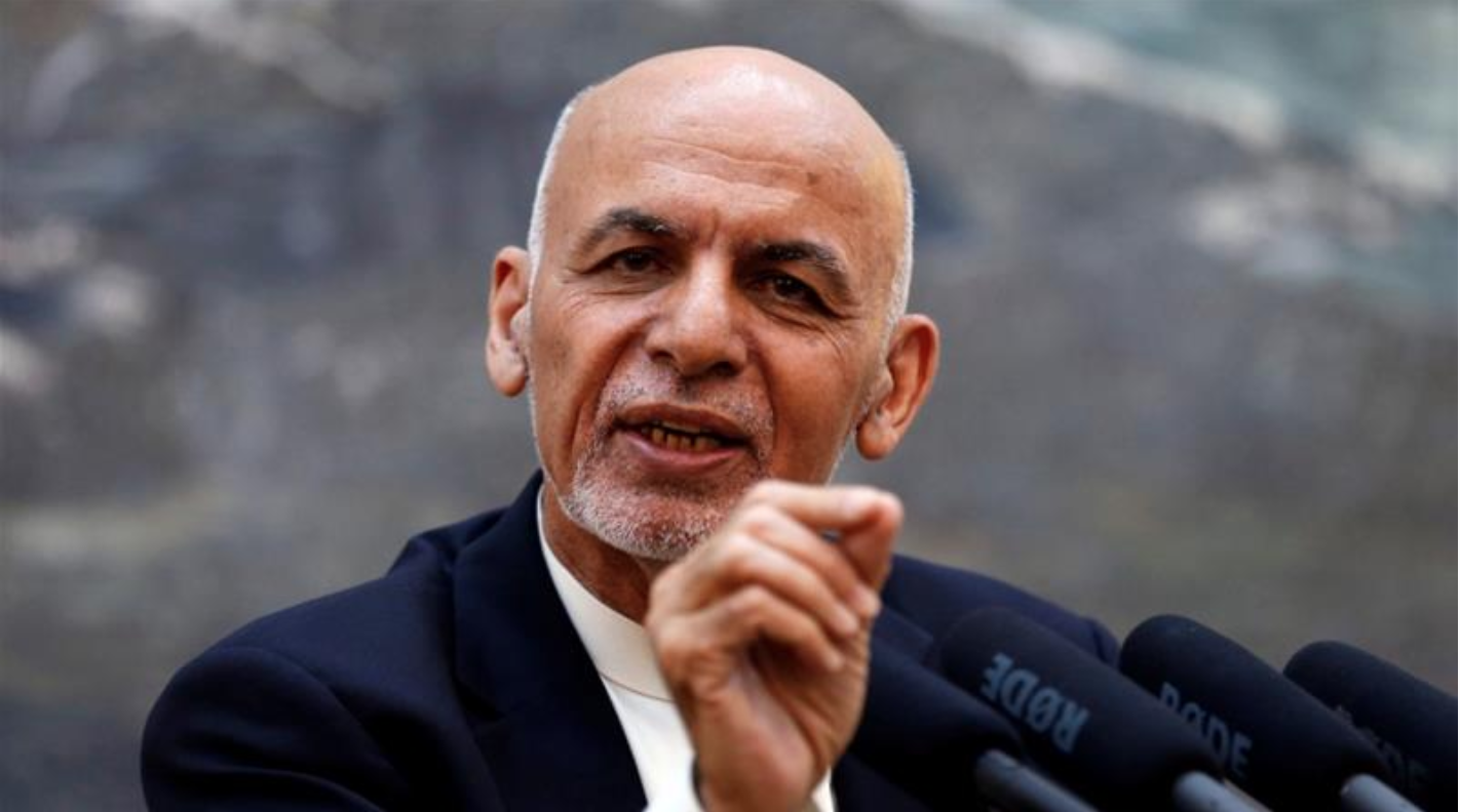 President Ashraf Ghani during a press conference in Kabul in 2018. (Photo:  Mohammad Ismail/Reuters )