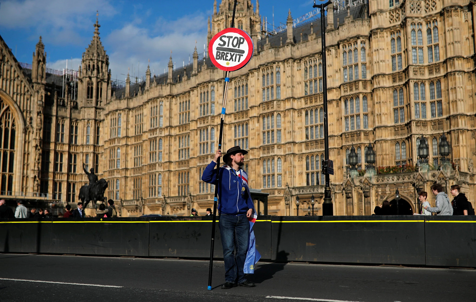 A protester outside Parliament. Photo:  Alkis Konstantinidis/Reuters