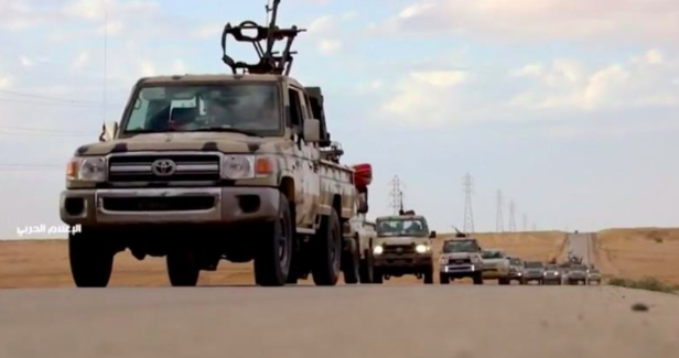 A group of vehicles from Khalifa Haftar's Libyan National Army's offensive.  Photo : Reuters