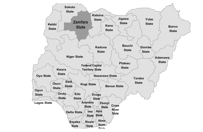 Zamfara state has been the site of intense conflict for over a year, resulting in hundreds of deaths and kidnappings, and thousands fleeing their homes. Photo:  Africa Prime News .