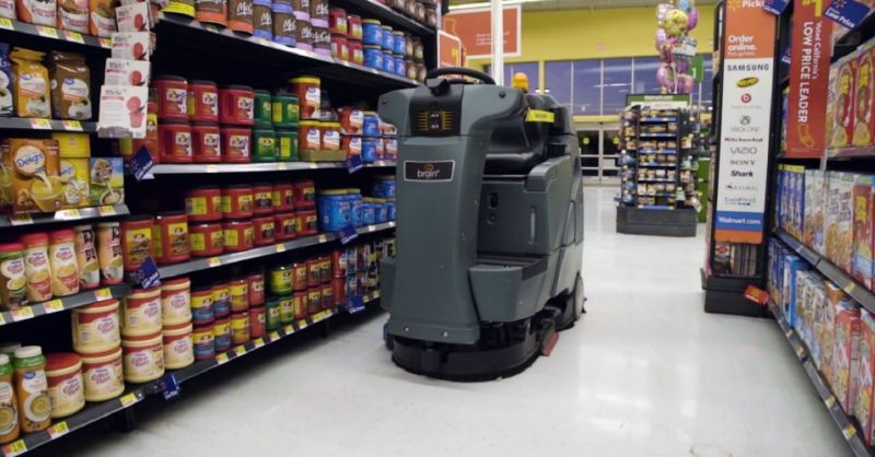 Walmart will start to use robot helpers to reduce labor costs. (Photo:  Walmart )