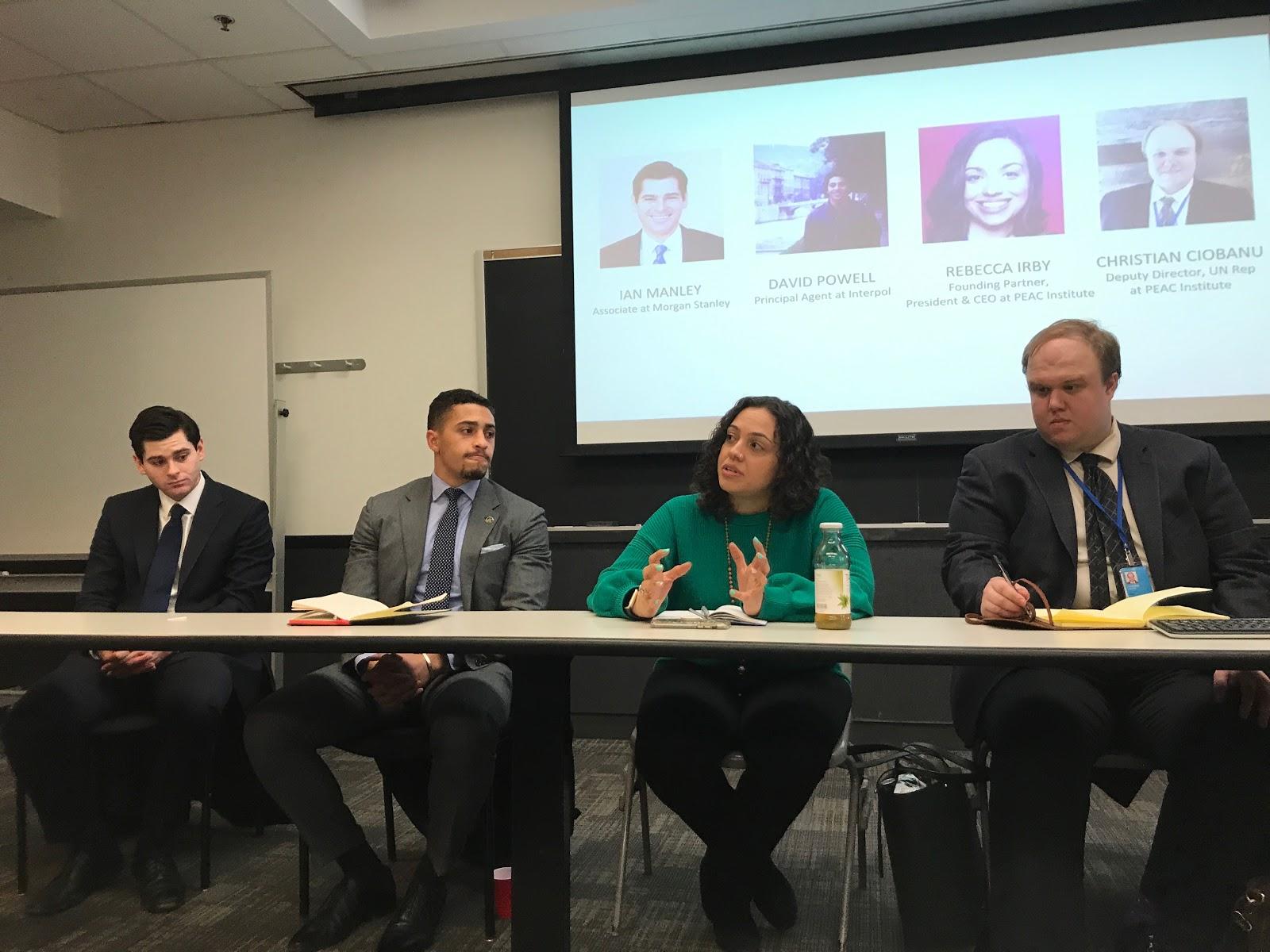 Ian Manley (far left), David Powell (left), Rebecca Irby (right), and Christian Ciobanu (far-right) Photo: Danny Hegberg