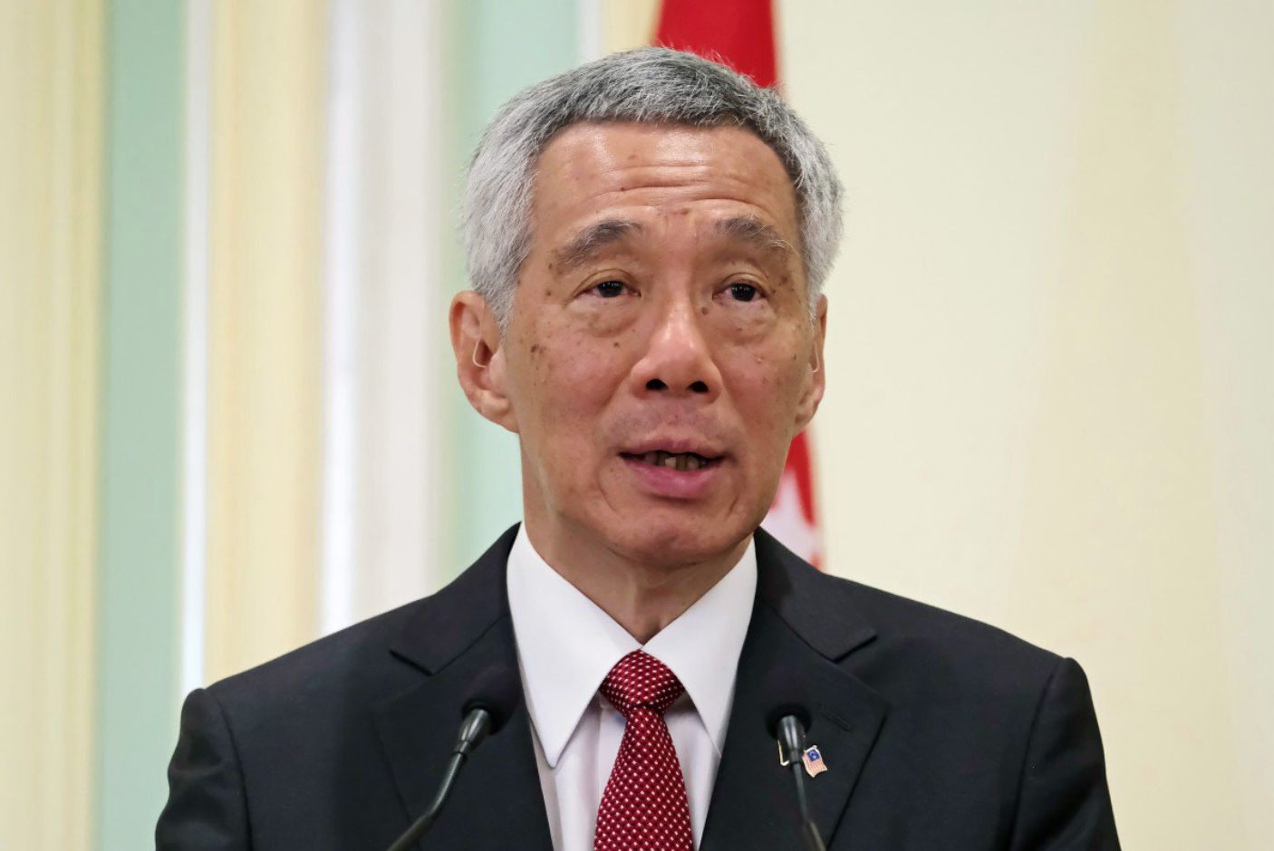Prime Minister Lee Hsien Loong of Singapore at an annual joint conference with his Malaysian counterpart.  Photo:  SCMP/Agence France-Presse via Bloomberg
