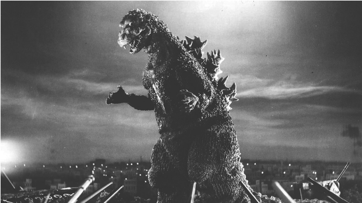 Still from 1954 film  Godzilla . Photo:  MHM Podcast Network
