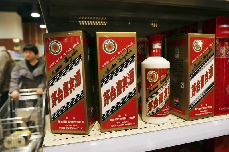 Moutai's  baijiu  brand, a type of grain alcohol, is well regarded for its fiery, complex flavor and a unique purity known to prevent hangovers. Source:  China Daily/Reuters/Fortune